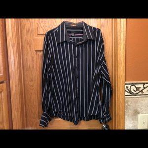 Calvin Klein Button Down Shirt with Cuff Links XXL